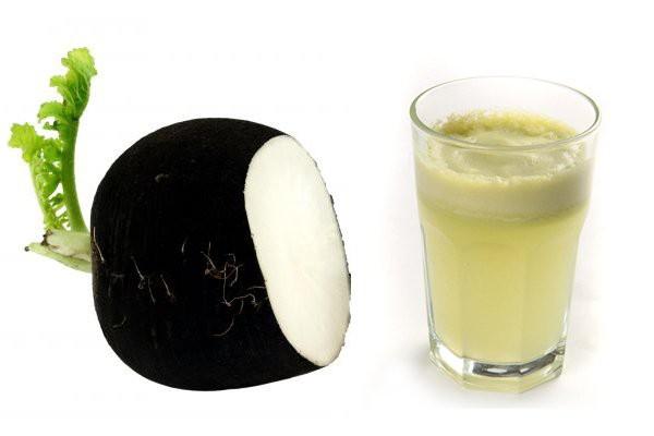Как получают сок из черной редьки?