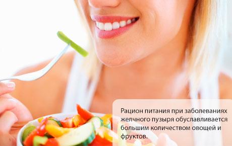 Питание при воспалении желчного пузыря